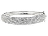 Pre-Owned White Cubic Zirconia Rhodium Over Sterling Silver Bracelet 7.02ctw