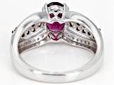 Pre-Owned Purple rhodolite sterling silver ring 1.61ctw
