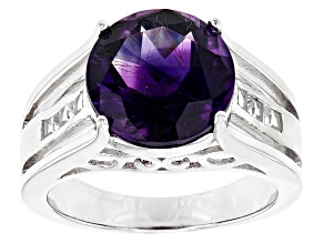 Pre-Owned Purple Amethyst Sterling Silver Ring 4.27ctw