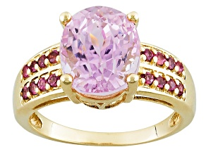 Pre-Owned Pink Kunzite 10k Yellow Gold Ring 5.25ctw