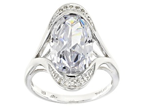 Pre-Owned Cubic Zirconia Silver Ring 9.90ctw (5.83ctw DEW)