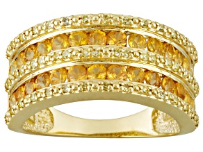 Pre-Owned Yellow Sapphire 10k Yellow Gold Ring 1.38ctw