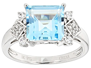 Pre-Owned Glacier Topaz™ Sterling Silver Ring 4.63ctw