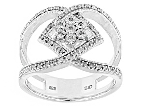 Pre-Owned Rhodium Over Sterling Silver Diamond Ring .21ctw