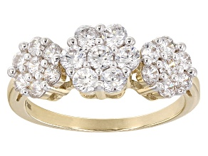 Pre-Owned White Cubic Zirconia 10k Yellow Gold Ring 2.25ctw