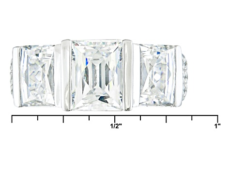 Pre-Owned White Cubic Zirconia Platineve Ring 6.51ctw
