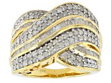 Pre-Owned 14k Yellow Gold Over Silver Ring 1.95ctw