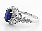 Pre-Owned Blue Kyanite Sterling Silver Ring 3.18ctw