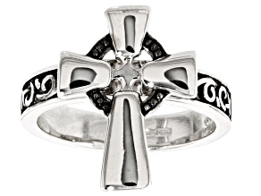 Pre-Owned Sterling Silver Celtic Cross Ring