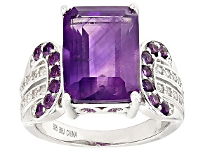Pre-Owned Purple Amethyst Sterling Silver Ring 7.77ctw