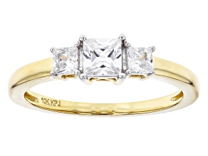 Pre-Owned White Cubic Zirconia 10k Yellow Gold Ring 1.00ctw