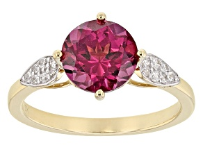 Pre-Owned Grape Color Garnet 10k Yellow Gold Ring 1.92ctw