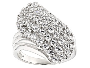 Pre-Owned White Cubic Zirconia Rhodium Over Sterling Silver Ring 3.36ctw