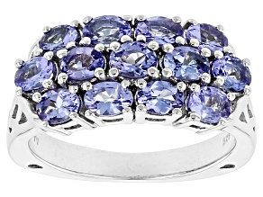 Pre-Owned Blue Tanzanite Sterling Silver Ring 2.08ctw