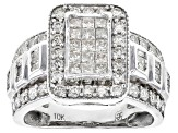 Pre-Owned White Diamond 10k White Gold Ring 1.40ctw