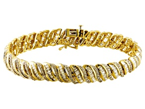 Pre-Owned Diamond 10k Yellow Gold Bracelet 5.00ctw