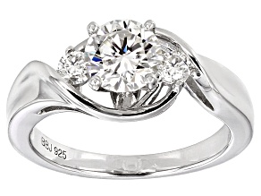 Pre-Owned Moissanite Ring Platineve™ 1.20ctw DEW