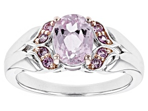 Pre-Owned Pink Kunzite Sterling Silver Ring 1.59ctw