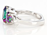 Pre-Owned Mystic Fire® Green Topaz Sterling Silver Ring 4.46ctw