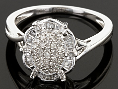 Pre-Owned Diamond 10k White Gold Ring .25ctw
