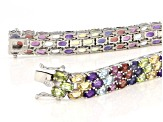 Pre-Owned Multi Color Sterling Silver Bracelet 22.80ctw