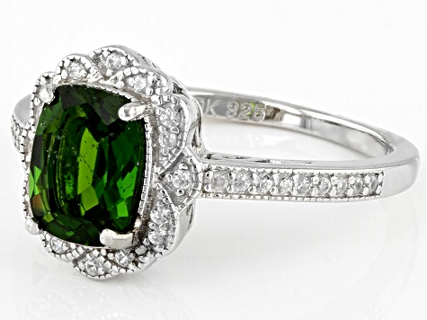 Pre-Owned Green Chrome Diopside Sterling Silver Ring 1.55ctw