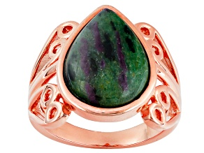 Pre-Owned Copper Ruby in Zoisite Ring