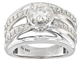 Pre-Owned Moissanite Platineve Ring 1.28ctw DEW