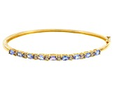 Pre-Owned Blue Tanzanite 18k Gold Over Silver Bangle Bracelet 1.88ctw