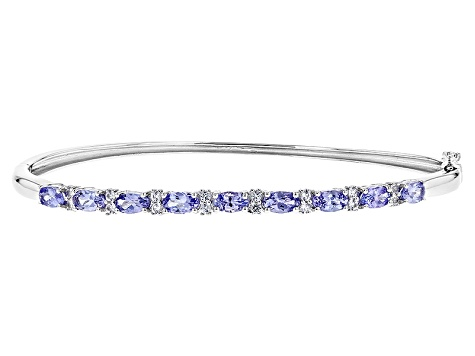 Pre-Owned Blue Tanzanite Sterling Silver Bracelet 2.02ctw