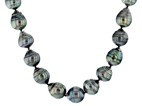 Baroque Cultured Tahitian Pearl Silver Strand Necklace 20 inch