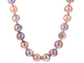 Cultured Frsehwater Pearl Rhodium Over Silver Silver Strand Necklace 13.5-16.5mm