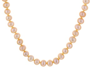 Peach Cultured Freshwater Pearl Endless Strand Necklace 60 inch