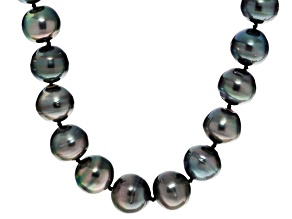 12-15mm Cultured Tahitian Pearl Sterling Silver 18 inch Necklace
