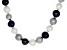 Multi-Color Cultured Freshwater Pearl Rhodium Over Sterling Silver Necklace 11-13mm