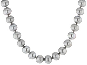 Silver Cultured Freshwater Pearl Rhodium Over Silver Necklace 12-13mm