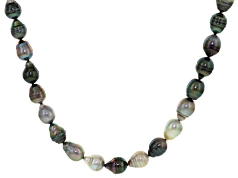 Cultured Tahitian And Golden South Sea Peal Endless Strand Necklace 8-11mm