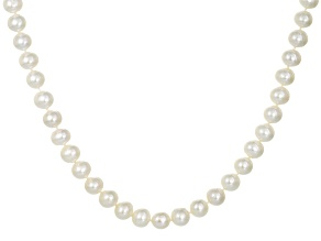 Cultured Freshwater Pearl 14k Yellow Gold Strand Necklace 8.5-9.5mm