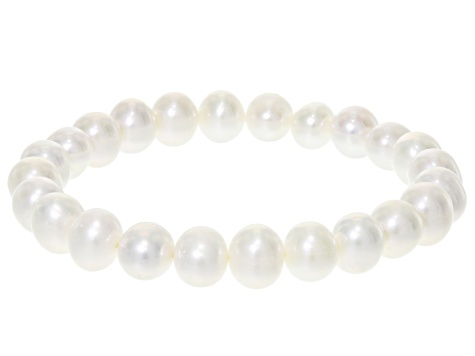 b27f1d9ee Cultured Freshwater Pearl Stretch Bracelet Set Of 3, 8-9mm - CPL068 ...