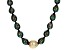 Cultured Tahitian And Golden South Sea Pearl Black Rhodium Over Sterling Silver Necklace