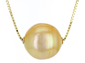 Cultured South Sea Pearl 14k Yellow Gold Necklace 15mm