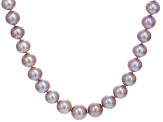 Natural Multi-Pink Cultured Kasumiga Pearl 14k White Gold Necklace 10.5-13.5mm