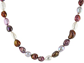 7-9mm Multi-Color Cultured Freshwater Pearl 60 Inch Endless Strand Necklace