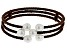 7-8mm White Cultured Freshwater Pearl, Brown Cord Wrap Bracelet