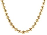 10-13mm Golden Cultured South Sea Pearl 14k Yellow Gold 18 Inch Strand Necklace