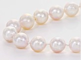 8-8.5mm White Cultured Japanese Akoya Pearl 14k Yellow Gold 18 Inch Strand Necklace
