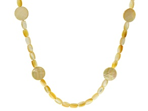 Golden South Sea Mother-Of-Pearl 28 Inch Endless Strand Necklace