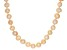 9-10mm Peach Cultured Freshwater Pearl Rhodium Over Sterling Silver 18 Inch Strand Necklace