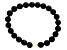 8-9mm White Cultured Freshwater Pearl & Black Onyx Stretch Bracelet