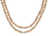 6-6.5mm Peach Cultured Freshwater Pearl, 60 Inch Endless Strand Necklace